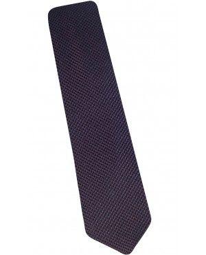 Cravate slim en soie marine natté rouge