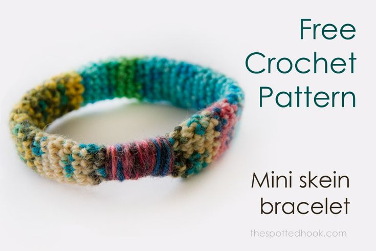 Free crochet pattern: Mini skein bracelets at The Spotted Hook