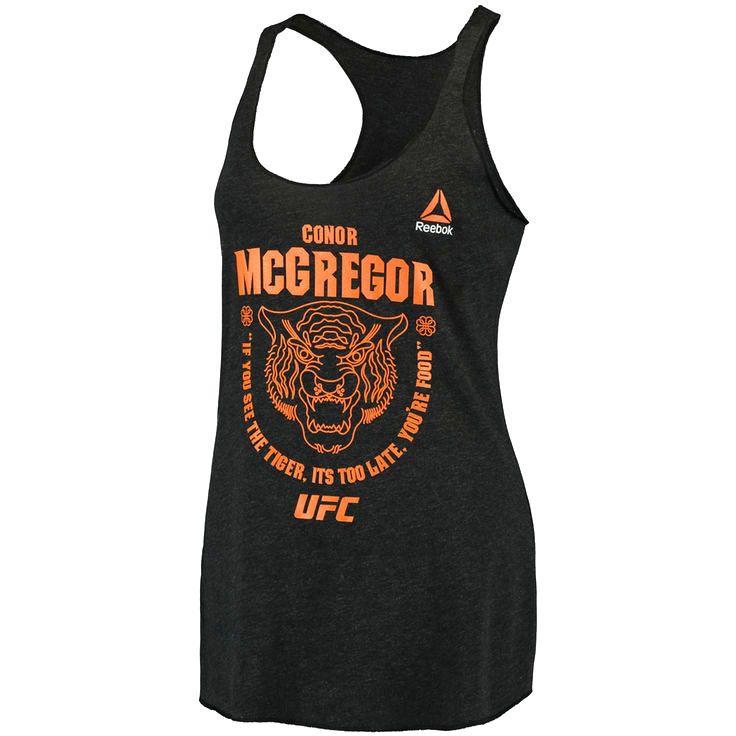 Conor McGregor Reebok Women's UFC 202 Tiger Food Racerback Tank Top - Black - $27.99
