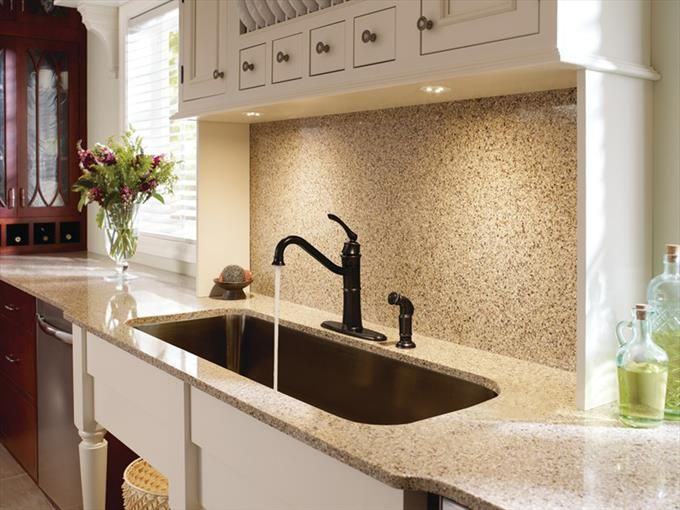 Moen Kitchen Undermount Sink and China Cabinet with Bronze One-Handle High Arc Kitchen Faucet