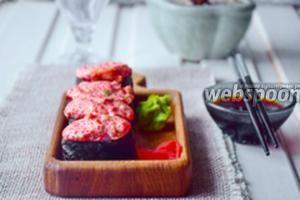 Суши «Запечёный спайси краб»