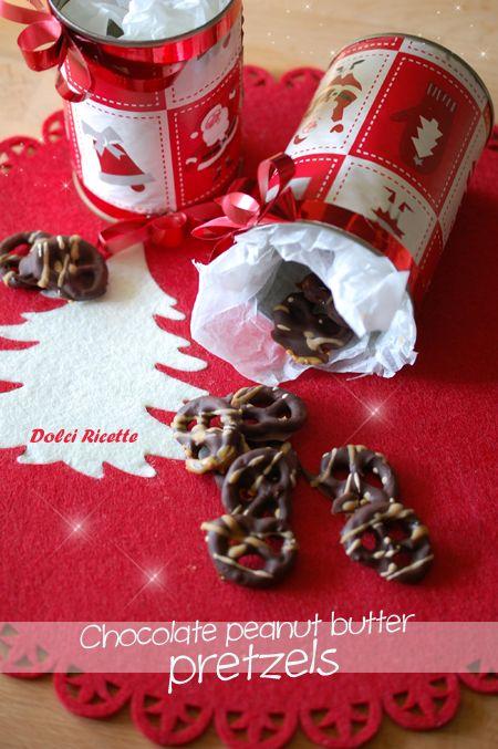 Chocolate peanut butter pretzels #pretzels