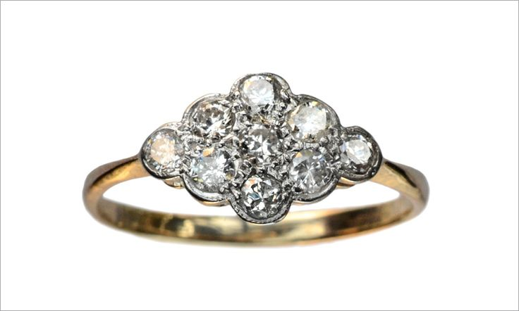 vintage ring; i love the cluster