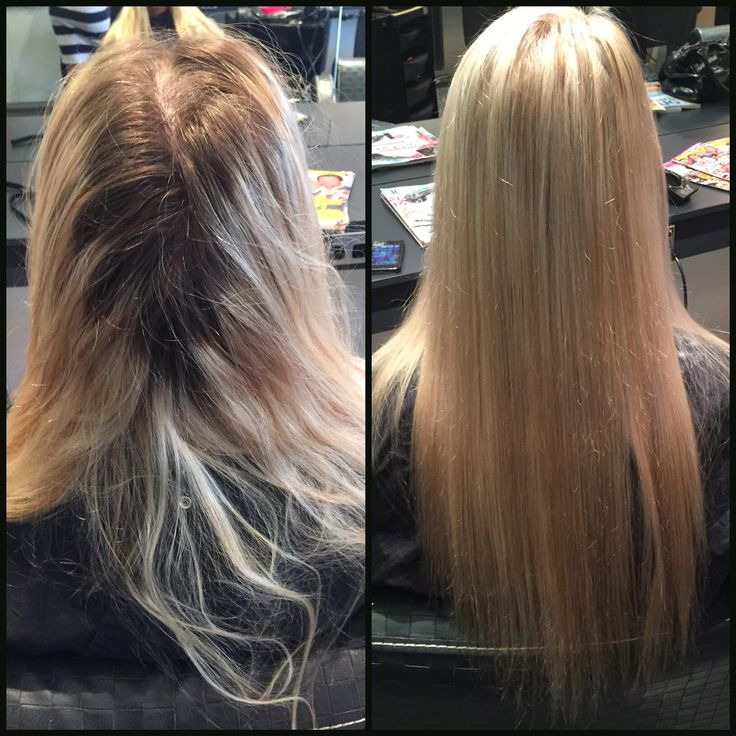 Full head of foils and a delicious keune toner to make this client feel a million dollars! #hairbybell #mhshair #weloveblondes