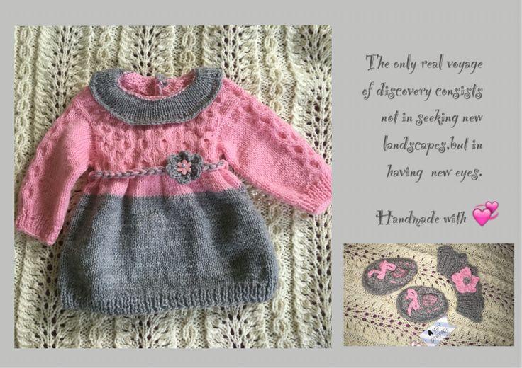 #knitting #strikking #nadrutach #knitstagram #hobby #rekodzielo #welna #ull #babyshower #newborn #dress #naszydelku #handmadewithlove