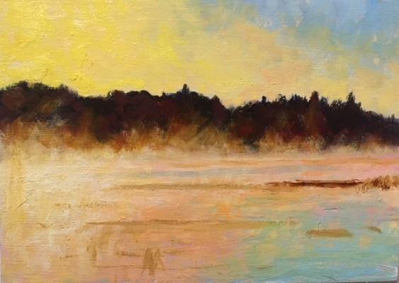Rising Mist, First Light – 14 Bells Fine Art Gallery