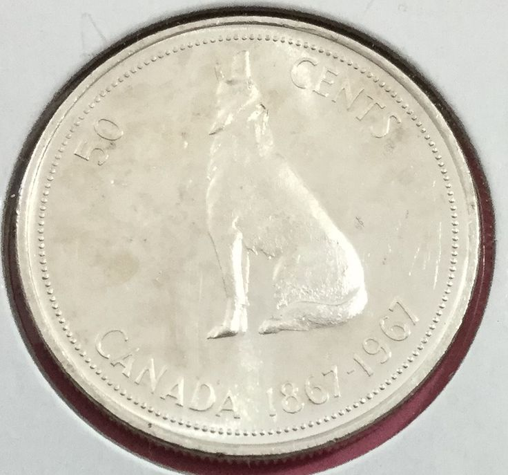1967 Gorgeous Uncirculated Canada SILVER FIFTY CENTS WOLF! Old Canadian Coins  Price : $6.00  Ends on : Ended Order Now