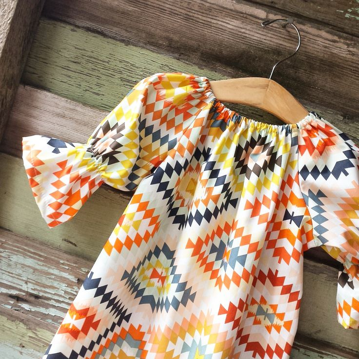 Girls Dress, Fall Navajo three quarter, aztec long sleeve peasant dress, boho dress,Thanksgiving, coming home outfit, toddler, Fall outfit by ShelbyJaneandCo on Etsy https://www.etsy.com/listing/462780717/girls-dress-fall-navajo-three-quarter