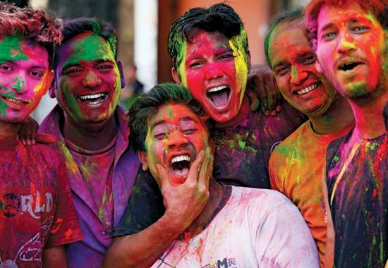 Holi celebration with family in India http://www.aryavrittravels.com/tour/holi-color-festival-celebration-india/