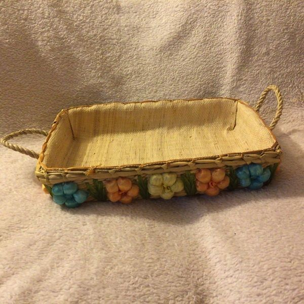 Flower wicker basket