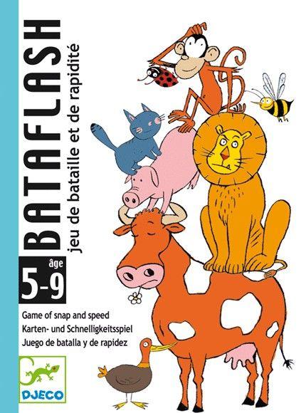Bataflash Djeco kártyajáték-rengeteg állat egy rakáson