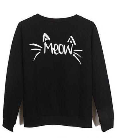 Meow #sweatshirt #shirt #sweater #womenclothing #menclothing #unisexclothing #clothing #tops