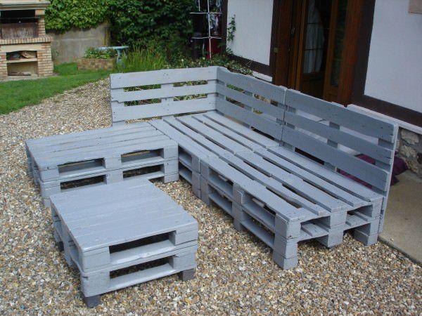Pallets Garden Lounge / Salon De Jardin En Palettes Europe Pallet Lounges & Garden Sets