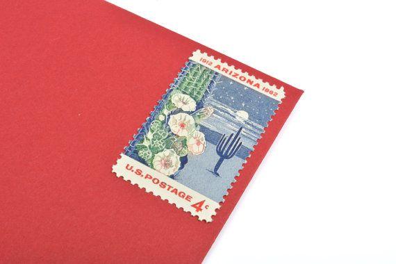 Arizona Statehood Saguaro Cactus Flower Postage Stamps - 4 cents - Vintage 1962 - Unused - Quantity of 50