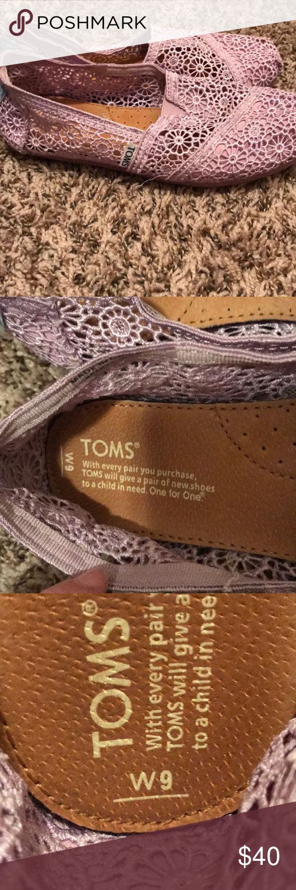 ‼️Purple Lace Toms‼️ Purple lace toms (never worn) Toms Shoes Slippers