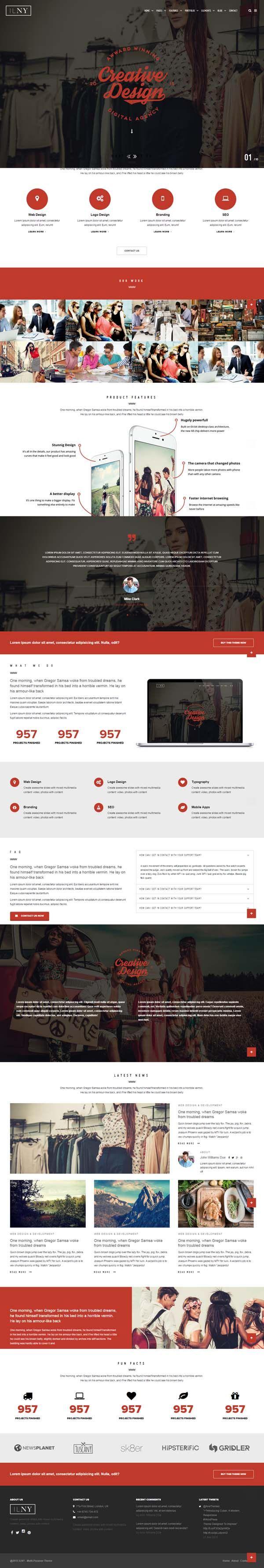 ILNY - Responsive Multi-Purpose HTML Template #html5templates #psdtemplates #responsivetemplates #websitetemplates