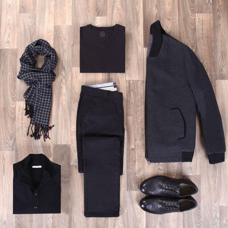 Siyahlar içinde fark edilir olmanın ipuçları; Bomber ceket, İskoçların moda dünyasına hediyesi Brouge tarzı bir ayakkabı ve modern yaka kesime sahip bir triko ile kombin oluşturmakta gizli..!  #Ramsey #fashion #fashioninstagram #trends #instablogger #trendy #casual #look #instastyle #styling #moda #fashionstyle #menfashion #menstyle #suit #2015 #moda #erkekmodasi #clothes #fashion #man #love #Мужскаямода #Мужскойстиль #Мода www.ramsey.com.tr