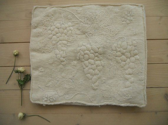 Swedish vintage embroidered pillow case Shabby by TextilesVintage