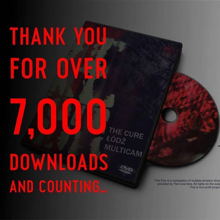 "Thank you for over 7000 downloads ""The Cure Lodz Multicam"" and counting... #TheCure #lodz #Multicam #free #fan #film #project #thecuretour2016 #RobertSmith #rock #pop #indie #goth #alternative #postpunk #80s #90s #music #video #instamusic #łódź #atlasarena #poland #concert #koncert #nazywo #live #download @thecure @martinmarszalek"