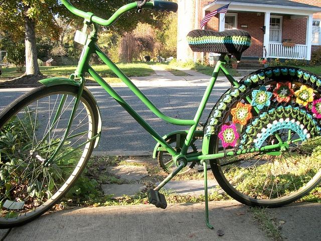 crocheted bike spoke guard