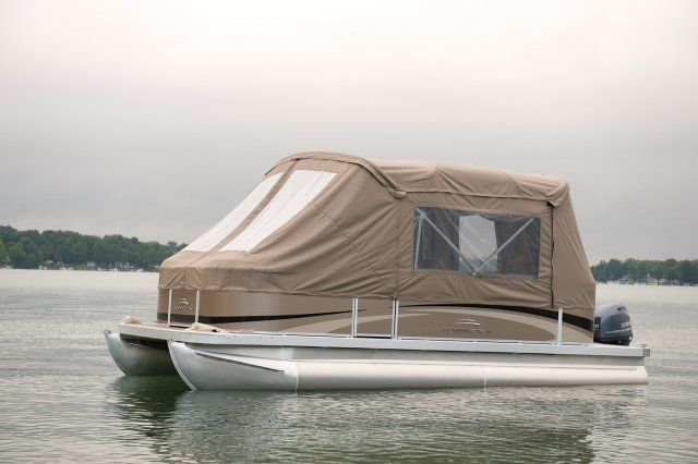 Now you never have to leave the boat with a camping enclosure.