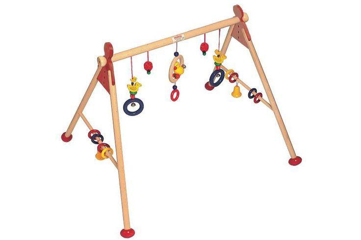 Babygym eendendans  De babygym is in 5 aan te passen hoogtes in te stellen.  Afmetingen: 63 x 53 x 55 cm