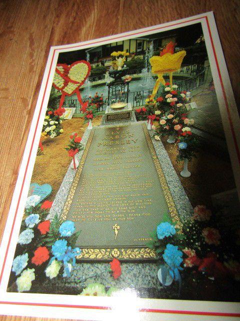 Grave Of Elvis Graceland Mansion Postcard