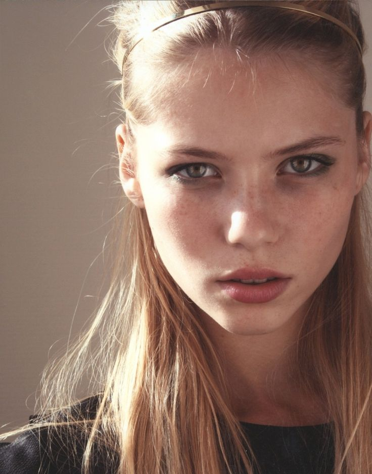 Beautiful girl with bare skin and gorgeous eyes!