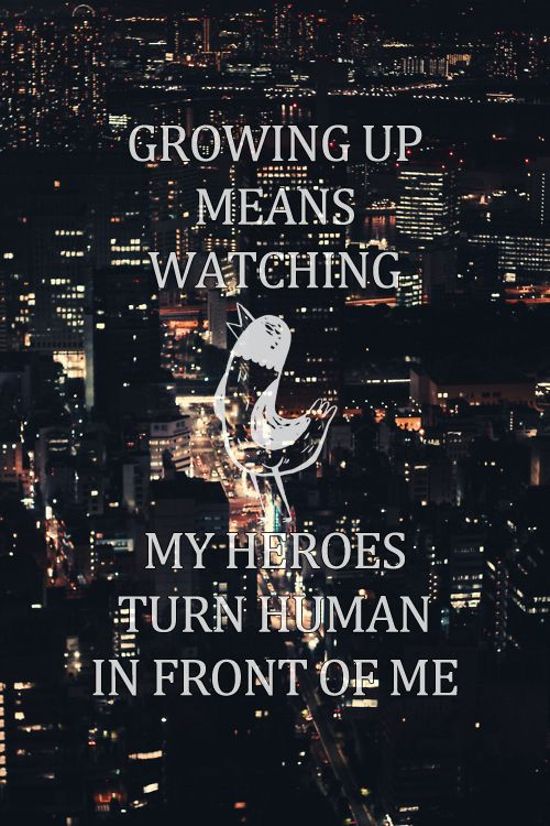 Hoodie Weather. The Wonder Years. never actually heard this song, but I like that line.