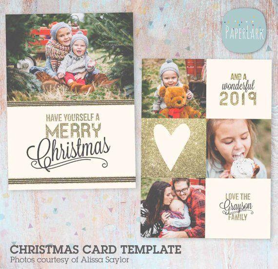 Christmas Card Template Holiday Christmas Card Template Etsy Christmas Card Template Christmas Cards Family Christmas Cards