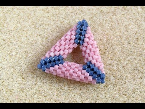 3D háromszög fűzése peyote technikával, peyote triangle tutorial - YouTube