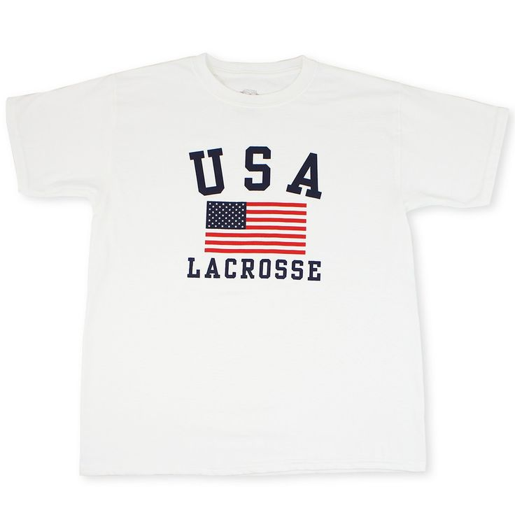 #LacrosseUnlimited USA Girls Youth Lacrosse Tee
