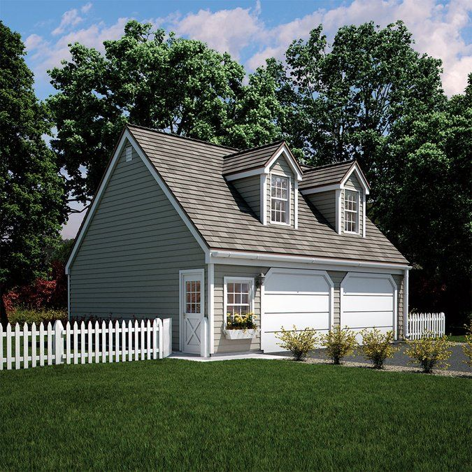 Love Everything About This Kloter Farms 24 X 28: Two Car Garage With Loft Garage Plans