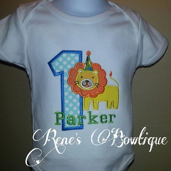 Lion Birthday Shirt by RenesBowtique on Etsy