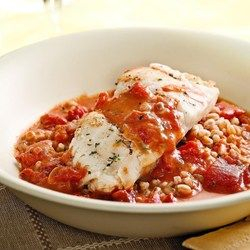 Cod with Tomato Cream Sauce for Two - EatingWell.com