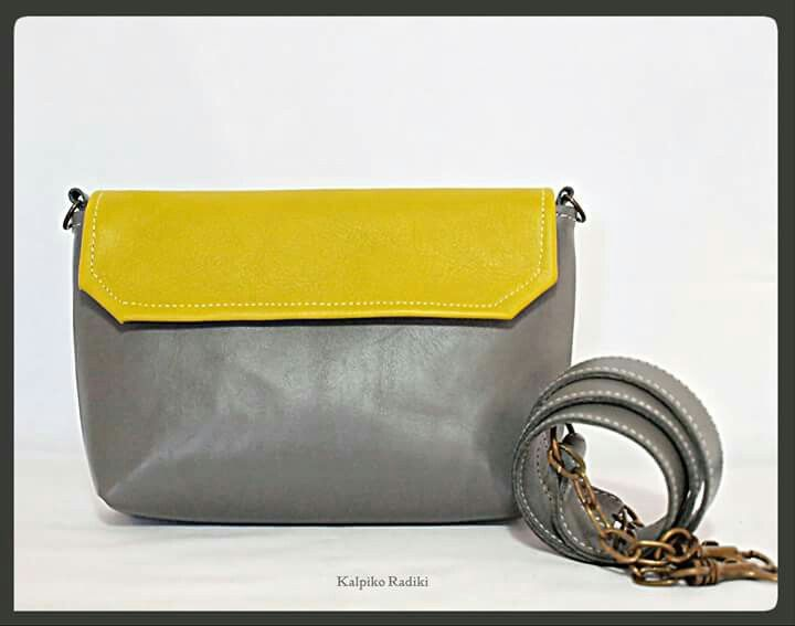 Missy crossbody bag, lime- grey colors