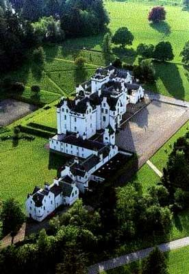 Blair Castle, Scotland. Dating from 1290 is the family seat of the Dukes of Atholl for over 700 years.