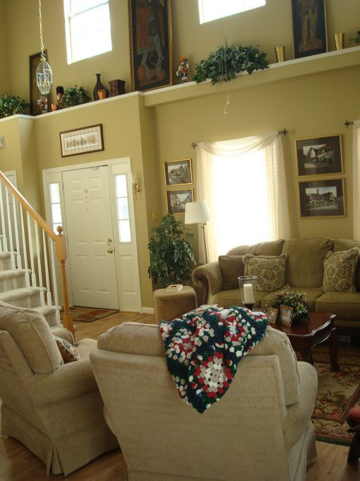 decorating ledges high ceilings | Ledge in the living Room, I don't have any before pictures because I ...