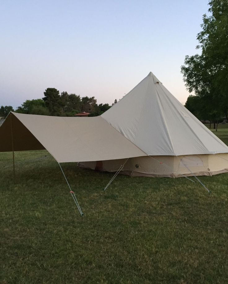 Bell tent awning on the 5000 Ultimate Stout Tent. The awning extends 7.9 feet. | Bell tent stuff | Pinterest & Bell tent awning on the 5000 Ultimate Stout Tent. The awning ...