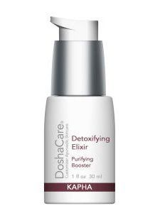 DoshaCare Kapha Detoxifying Elixir 1 fl oz. by DoshaCare. $58.00. DoshaCare Kapha Detoxifying Elixir is a powerful formula to combating the future effects of aging while supporting skin health for problematic complexions. Tulsi, bhrigraj, ginkgo biloba, ginger and tomato provide exceptional age-resisting properties, allowing your skin to repair itself. Deeply detoxifying benefits improve skin clarity by preventing congested pores. You'll notice a clearer, more radiant appearance.