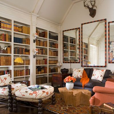library: Mirror, Books, Living Rooms, Interiors, Livingroom, Riverhills Showhouse, Sitting Room, Space, Design