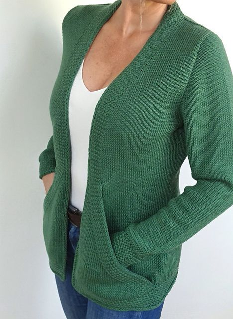 Вязание Cross Pockets Cardigan от дизайнера von Hinterm Stein