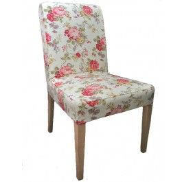 IKEA Henriksdal chair slipcover from Knesting.com in Ivory Rose Floral, Henriksdal cover, henriksdal chair cover, IKEA chair slipcover, Knesting