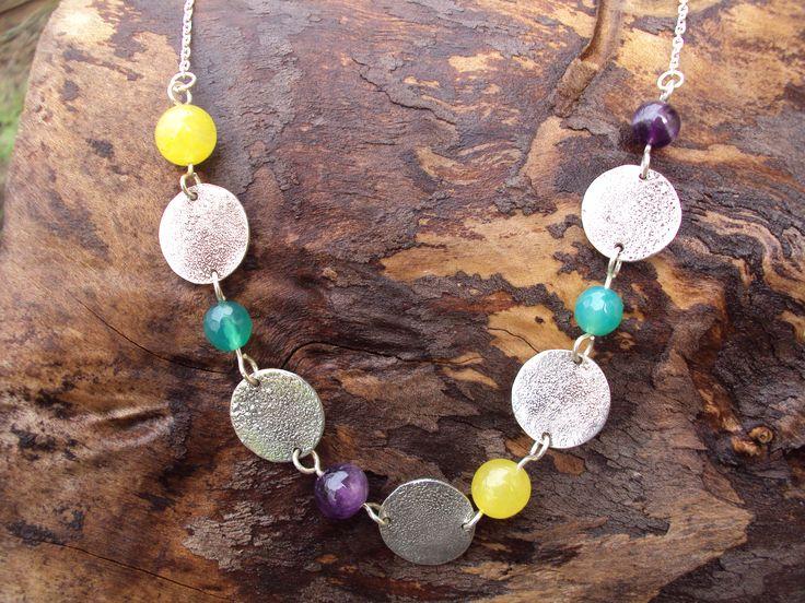 Collar de Plata y Piedras naturales