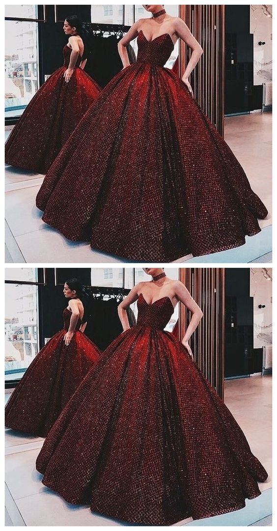 6dcffde25a0 Luxurious Gorgeous Sparkly Ball Gown Wine Red by ModelDressy on Zibbet