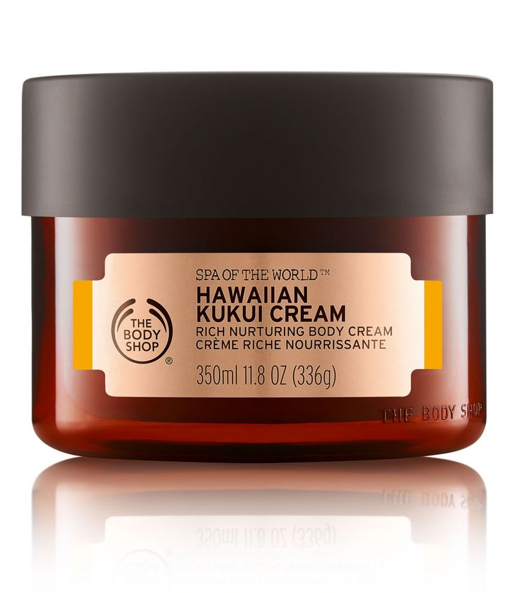 The Body Shop Spa Of The World Hawaiian Kukui Cream When it comes to body cream, I have two requirements: it has to be rich enough to keep my dry skin hydrated and it has to smell nice. This new Body Shop moisturizer ticks both boxes and then some. Maybe it's my general obsession with Hawaii, but there's something about this body cream that's special. It's rich and nourishing without being greasy and the exotic, yet subtle, scent is out-of-this-world amazing (maybe it's the kukui oil?) ...