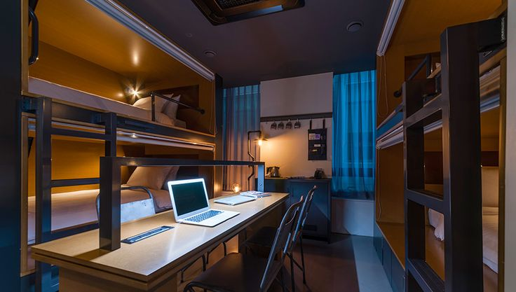 Hotel Cappuccino Seoul - Quad Room #seoul  #travel #lifestylehotel #Korea #hostel #bunkbed