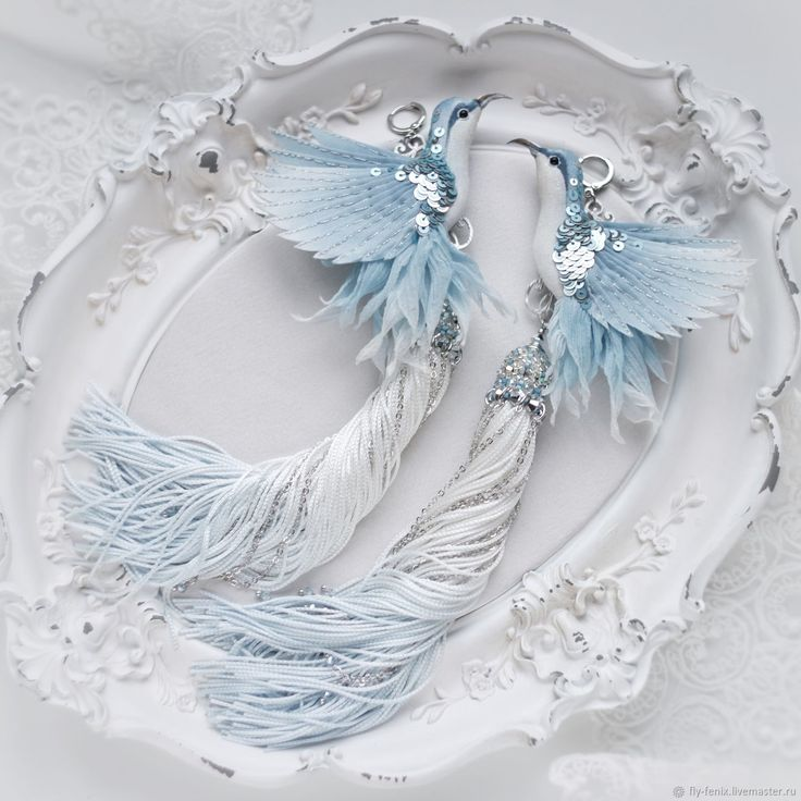 "Buy Earrings with birds Hummingbird ""heavenly"" on Livemaster online shop"