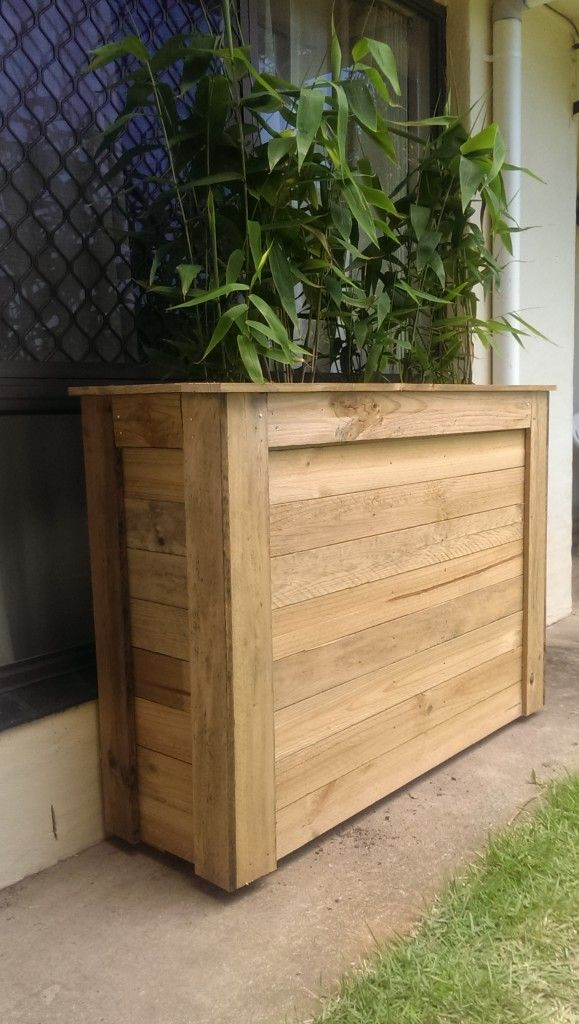 How to make a planter box out of wood woodworking for Planters made out of pallets