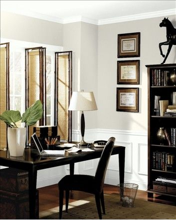 44 best home offices images on pinterest office spaces paint colours and benjamin moore. Black Bedroom Furniture Sets. Home Design Ideas